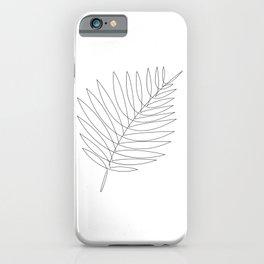 tropical single line iPhone Case