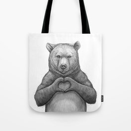 Bear with love Tote Bag