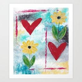 Love & Flowers Art Print