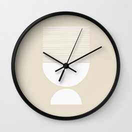 Linen Inverted White Scale Shutter Mirror Wall Clock