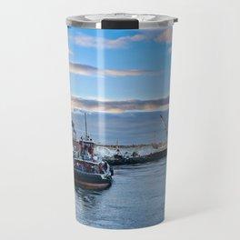 Tugboats At Dusk Travel Mug