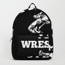 Wrestling Fan Fighter Fighting MMA Style Backpack