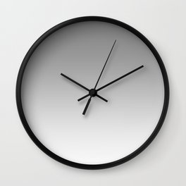 Gray to White Horizontal Linear Gradient Wall Clock