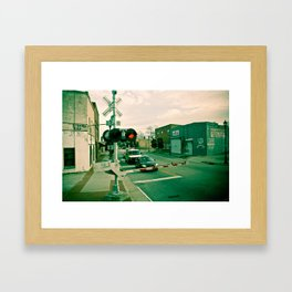 Railroads and State Lines Framed Art Print