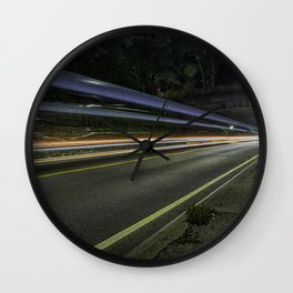 The speed of light. Wall Clock