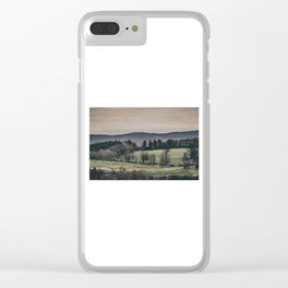 Vermont Landscape Clear iPhone Case