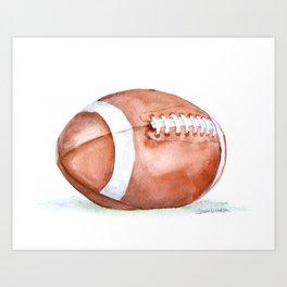 Football Watercolor Art Print