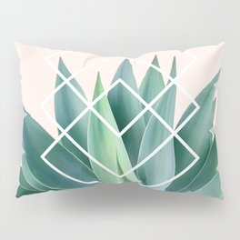 Agave geometrics - peach Pillow Sham