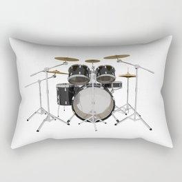 Black Drum Kit Rectangular Pillow