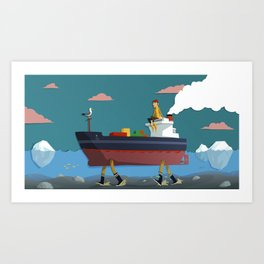 Maman les petits bateaux Art Print