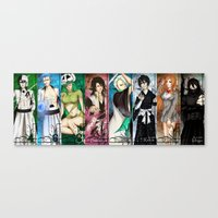 bleach Canvas Prints featuring Bleach ensemble by TEAM JUSTICE ink.