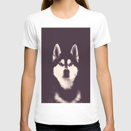 Vintage Oil Painting Husky Dog Special Design for Dog Lovers T-shirt
