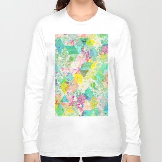 Floral triangles Long Sleeve T-shirt