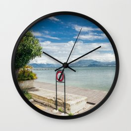 Garda Lake Wall Clock