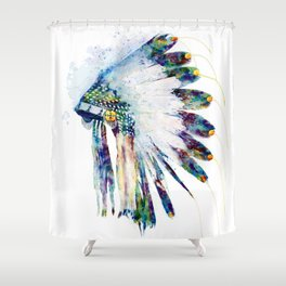 Indian Colorful Headdress Shower Curtain