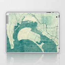 San Diego Map Blue Vintage Laptop & iPad Skin