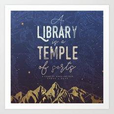 Library Temple Art Print