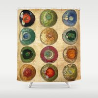 atlas Shower Curtains featuring ATLAS by d.ts