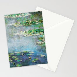 1906 Waterlily on Canvas.  Claude Monet . Vintage fine art. Stationery Cards
