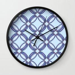 Sixtees purple blue Wall Clock