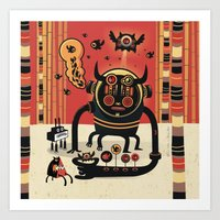insect Art Prints featuring Insect catcher by Exit Man