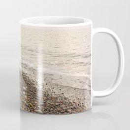 Dungeness Shoreline, Pebble Beach, Washington Seascape, Juan de Fuca, Coastal Photography Coffee Mug