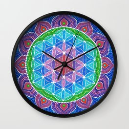 Lotus Flower of Life Wall Clock