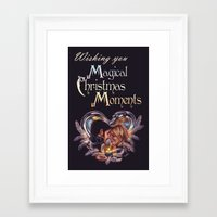 captain swan Framed Art Prints featuring Captain Swan Magical Moments - Christmas Card by Svenja Gosen