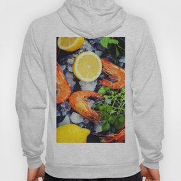 Tiger Shrimps on Ice with lemon and herbs Hoody