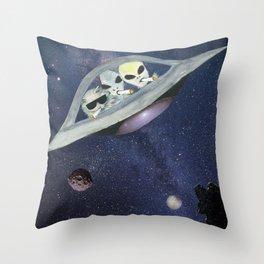 Cosmic Strays Throw Pillow