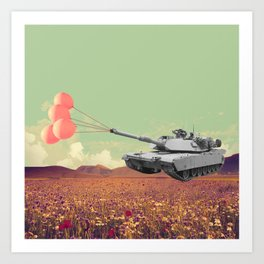 don't war, be happy Art Print