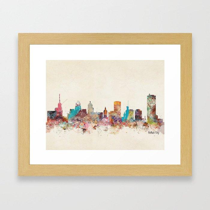 buffalo city new york  Framed Art Print