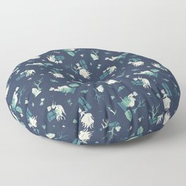Lady in White Floor Pillow