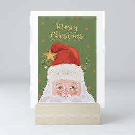 Santa With Stars Mini Art Print