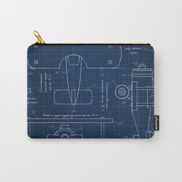 Toy Airplane Blueprint Carry-All Pouch