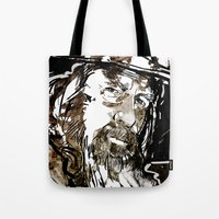 gandalf Tote Bags featuring Gandalf by Patrick Scullin