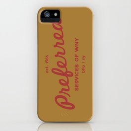 Preferred Services of WNY in Maroon iPhone Case