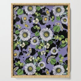 Daisy Daisy Floral II Serving Tray