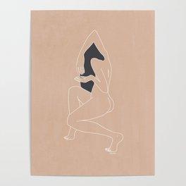 Minimalist Woman - Peach Poster