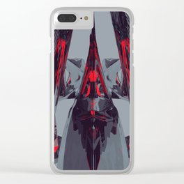 Neon Butterfly stg 07 Clear iPhone Case