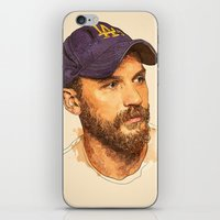tom selleck iPhone & iPod Skins featuring Tom by Roxy Color