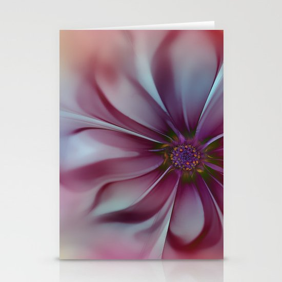 Soft Fractal Flower 2 Stationery Cards
