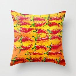 ajíes Throw Pillow