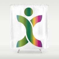 sport Shower Curtains featuring Sport Icon by Hasan Türkoğlu