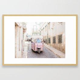Lisbon Tuk Tuk Framed Art Print