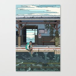 High Tide Tracks Canvas Print