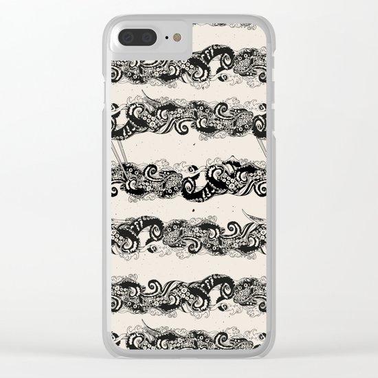 Ocean Sushi Stripe Clear iPhone Case