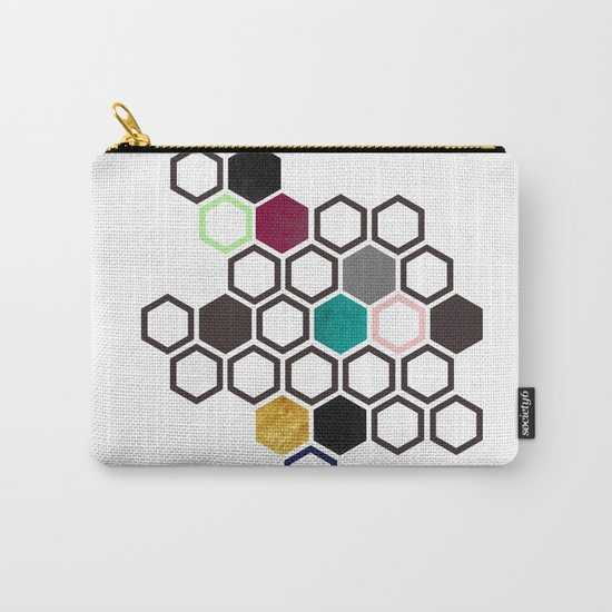 Hexagons Carry-All Pouch