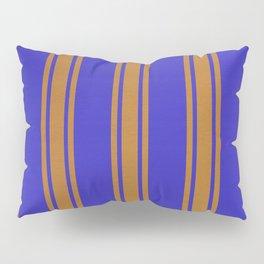 Orange lines on a blue background Pillow Sham