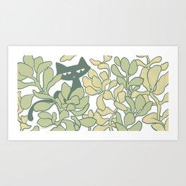 Jade Plants Art Print
